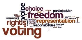 Democracy-purpose-words